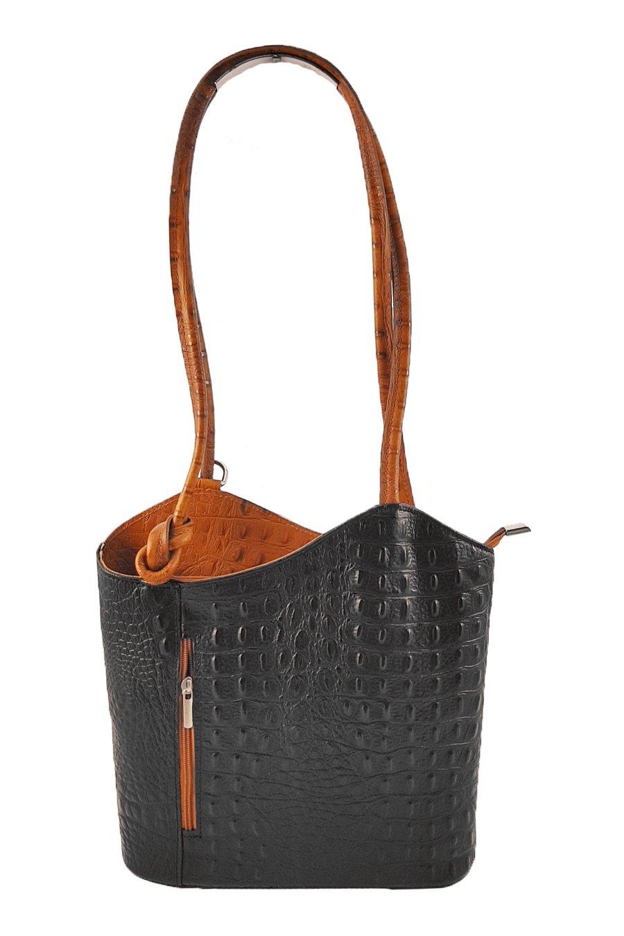 188212fdde4c5 Freyday 2 in 1 Handtasche Rucksack Designer Luxus Henkeltasche aus  Echtleder in versch. Designs product