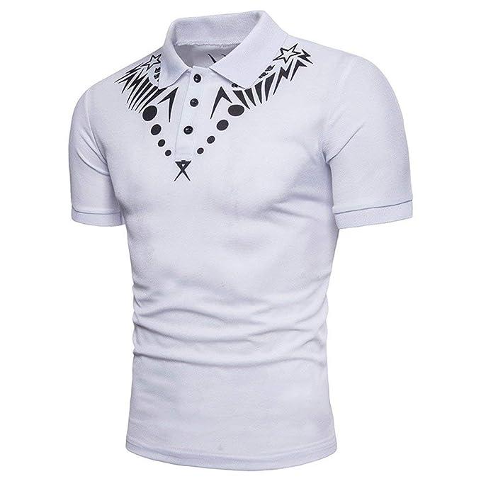 06b91ceff41a8 POLP Polos para Hombre Verano 2019 Camisa de Estilo Nacional con botón Blusa  Casual de Manga
