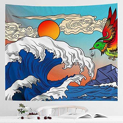 IcosaMro Ocean Wave Tapestry Hanging product image