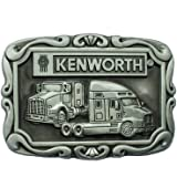 Kenworth Die Cast Pewter Finish Belt Buckle with Red Enamel