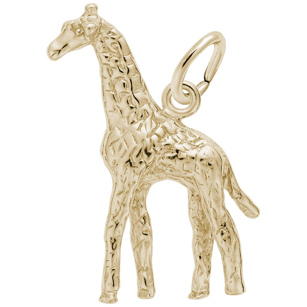 Giraffe Charm In 14k Yellow Gold, Charms for Bracelets and Necklaces by Rembrandt Charms