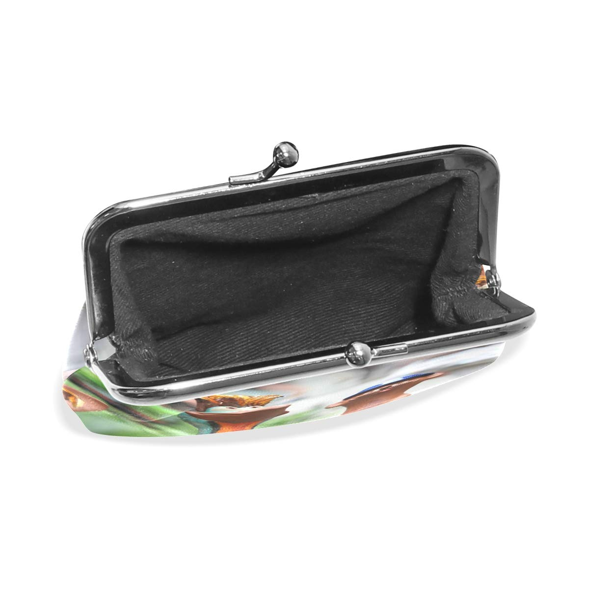 CLveg Groundhog PU Leather Coin Purse Card Package Wallet for Women Metal Button