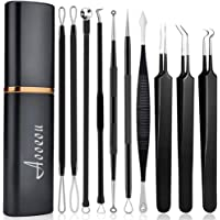 Pimple Popper Tool Kit, Aooeou 10 Pcs Professional Pimple Comedone Extractor Tool Acne Removal Kit -Treatment for…