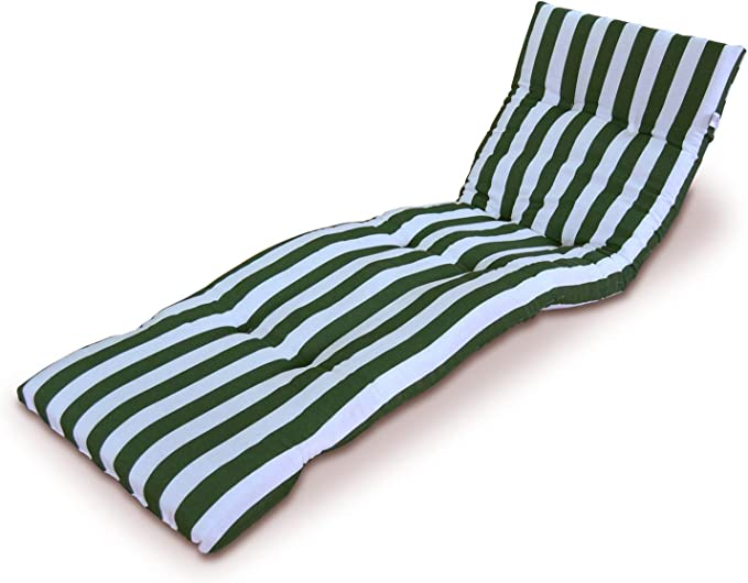 domi madrid s.l. DOYOMI Cojín Colchón para Tumbona o Mueble para Jardín, Playa, Exteriores,Terraza.Recambio de cojín para Tumbona.Medidas 180x50x8cm. (Verde): Amazon.es: Hogar