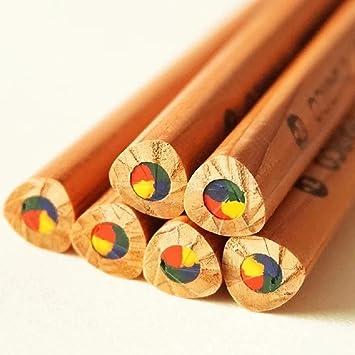 Stoc madera Rainbow Quad 4-en-1 lápices de colores varios ...