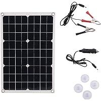 Bedler 50W 12V/5V Panel Solar de silicio monocristalino Cargador de batería Solar USB de Doble Salida Panel Solar de silicio monocristalino