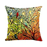 Decorative Pillow Cover - Onker Cotton Linen Square Decorative Throw Pillow Case Cushion Cover 18