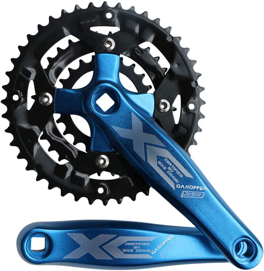 ganopper 9S 9speed 22 32 44T 170mm Crank Length MTB Mountain Bike Chainset 104BCD 64BCD Easy to Modify Single Crank Set