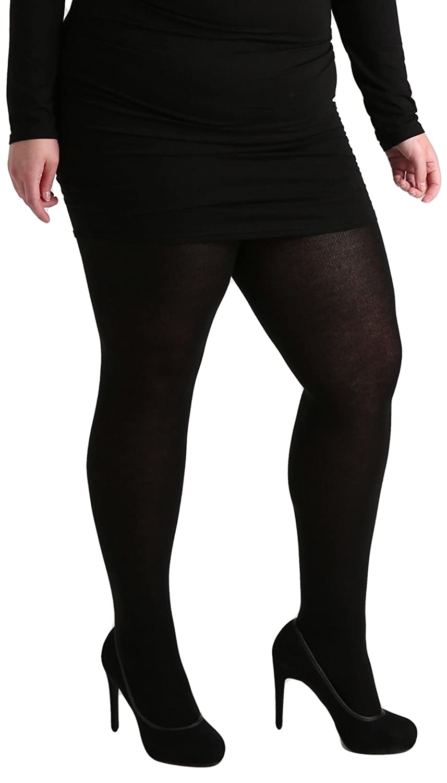 cf0b3ba6d0c71 Pamela Mann 50 Denier Maxi Opaque Plus Size Tights-5XL-Black: Amazon.co.uk:  Clothing