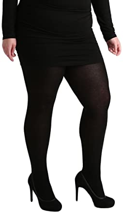 fe23be2c44c1b Pamela Mann 50 Denier Maxi Opaque Plus Size Tights at Amazon Women's  Clothing store: