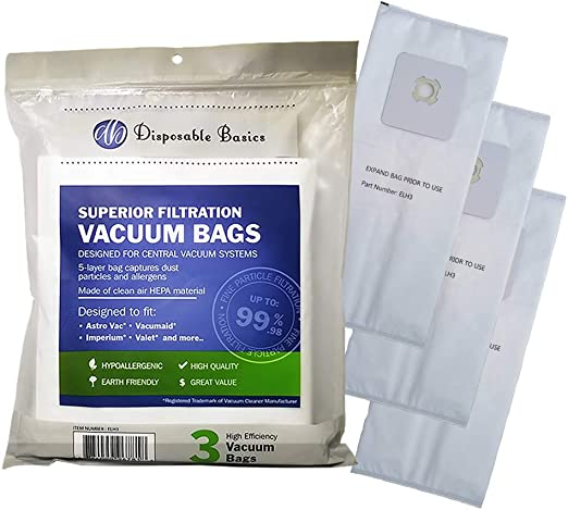 Nutone Disposable Filter Bags 391 Central Cleaning System NEW Sealed 3 Pack