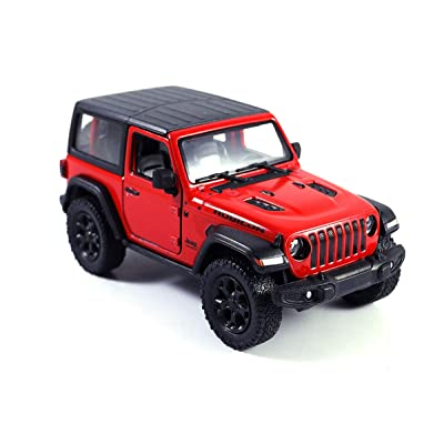 Jeep Wrangler Rubicon 4x4 Hard Top Off Road Exploration Diecast Model Toy Car Red: Toys & Games
