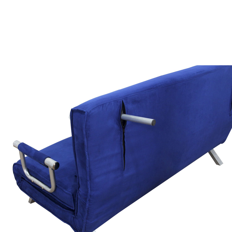 "Amazon Hom 61"" Folding Futon Sleeper Couch Sofa Bed Blue"