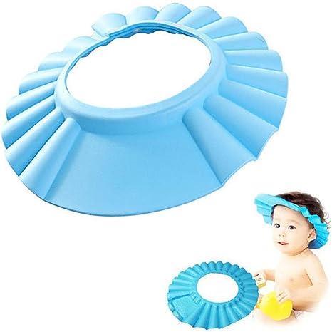 Blue Baby Kids Shampoo Bath Shower Cap Hat Wash Safe Hair Shield Head Wear Soft
