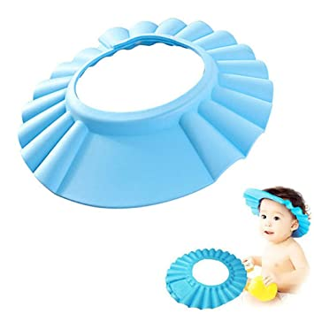 6a34a1c74f8 Baby Shower Cap Adjustable Waterproof Safe Shampoo Protect Soft Hat Wash  Hair Shield for Baby Children
