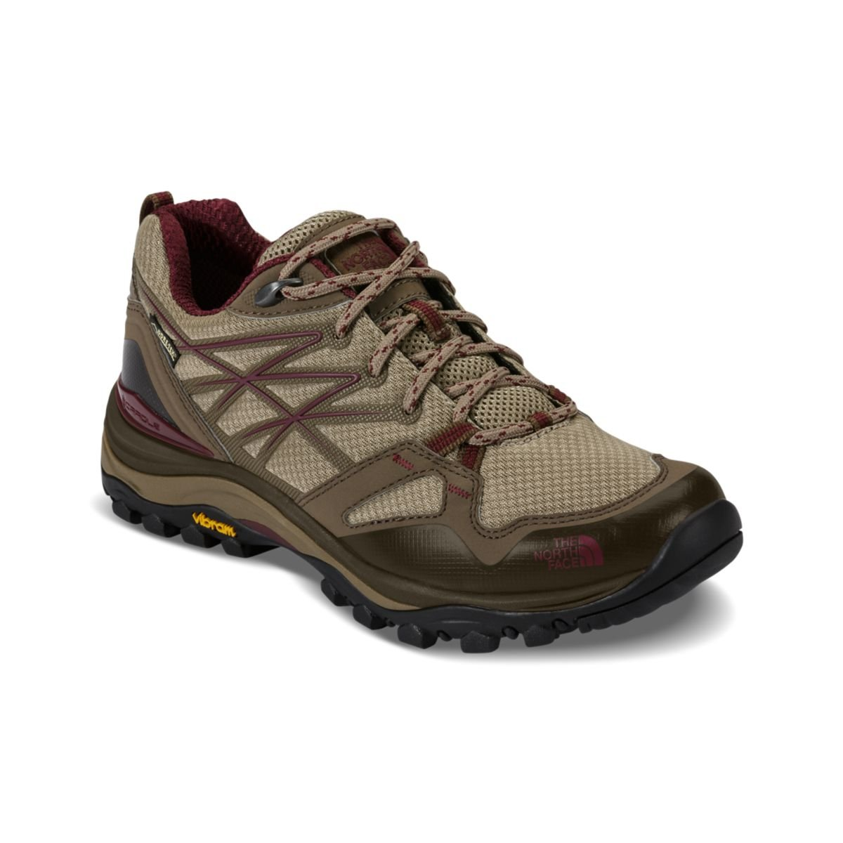 The North Face Women's Hedgehog Fastpack Gore-TEX Hiking Shoe Dune Beige/Deep Garnet Red Size 7.5 M US