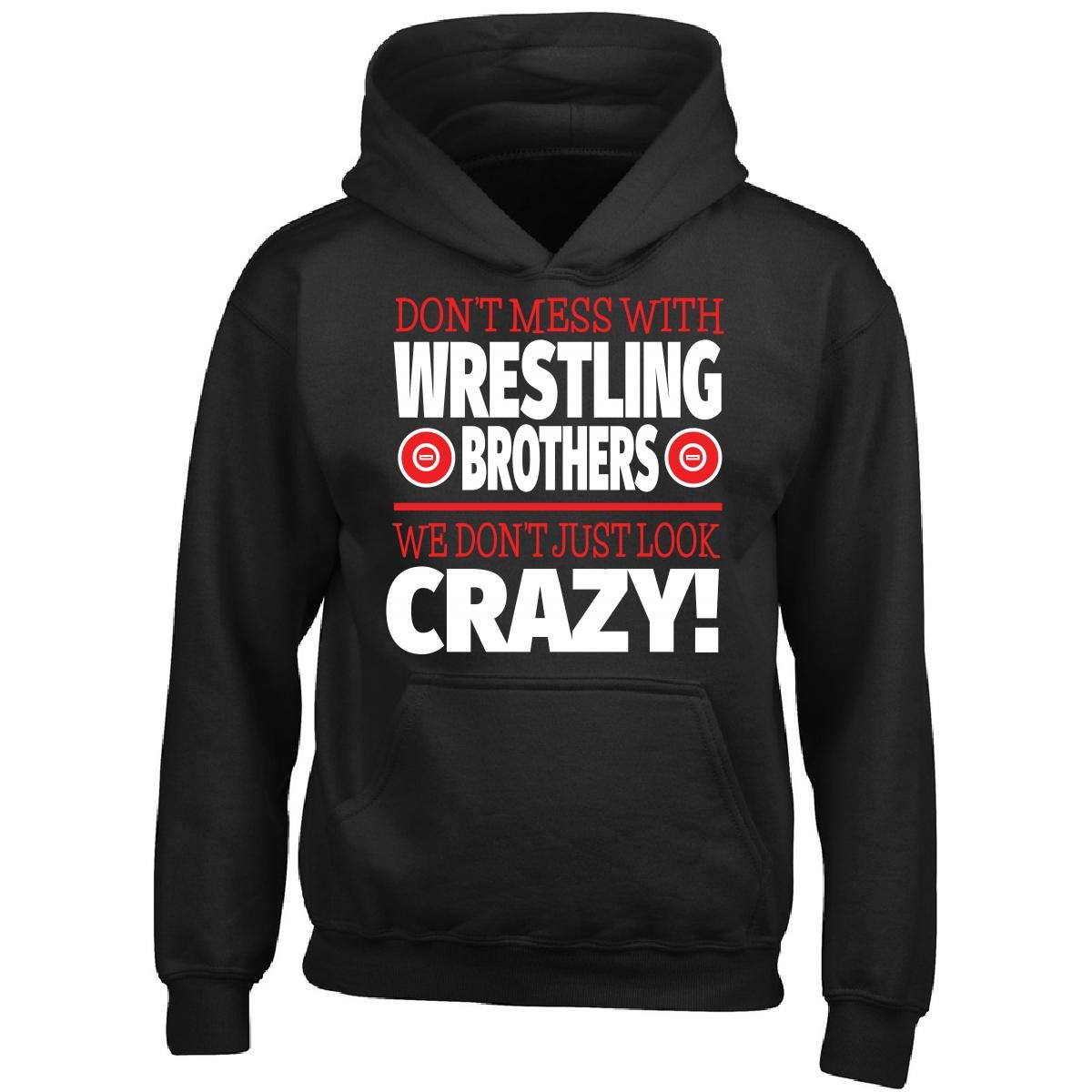Crazy Wrestling Family - Don't Mess With Wrestling Brothers - Boy Boys Hoodie