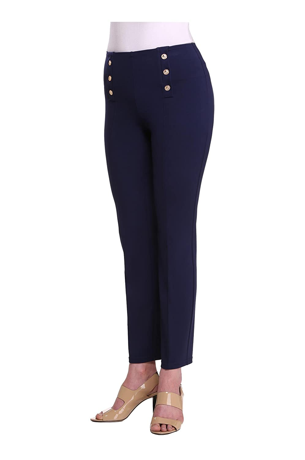 Women's Slimming Contour Nautical Navy Blue Pants
