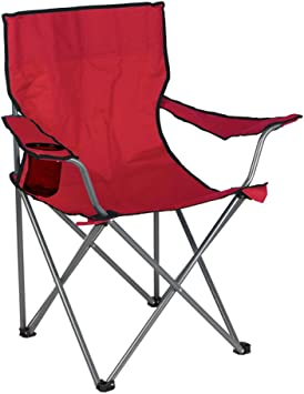 Aktive - Silla plegable de camping, color rojo, 52 x 52 x 88 cm ...