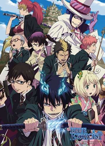 (Great Eastern Entertainment 9974 Blue Exorcist Rue Cross Academy Wall Scroll, 33 by)