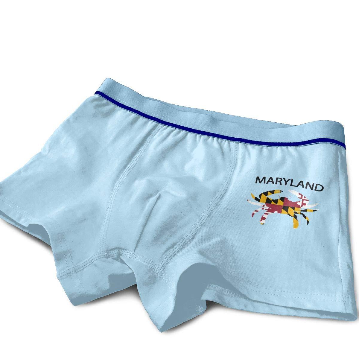 Raingningsning Maryland Flag Crab Toddler Cotton Boxer Briefs Underwear