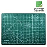 Self Healing Rotary Cutting Mat with Grid 12 x 18'' Odorless Durable Warp-Proof Non Slip Double Sided Rotating Cutting Mats for Scrapbooking Quilting Sewing and all Arts & Crafts Projects