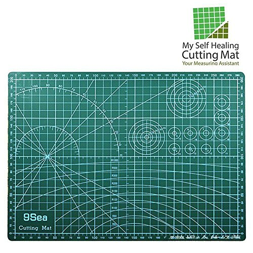 Self Healing Rotary Cutting Mat with Grid 12 x 18'' Odorless Durable Warp-Proof Non Slip Double Sided Rotating Cutting Mats for Scrapbooking Quilting Sewing and all Arts & Crafts Projects by My Self Healing Cutting Mat