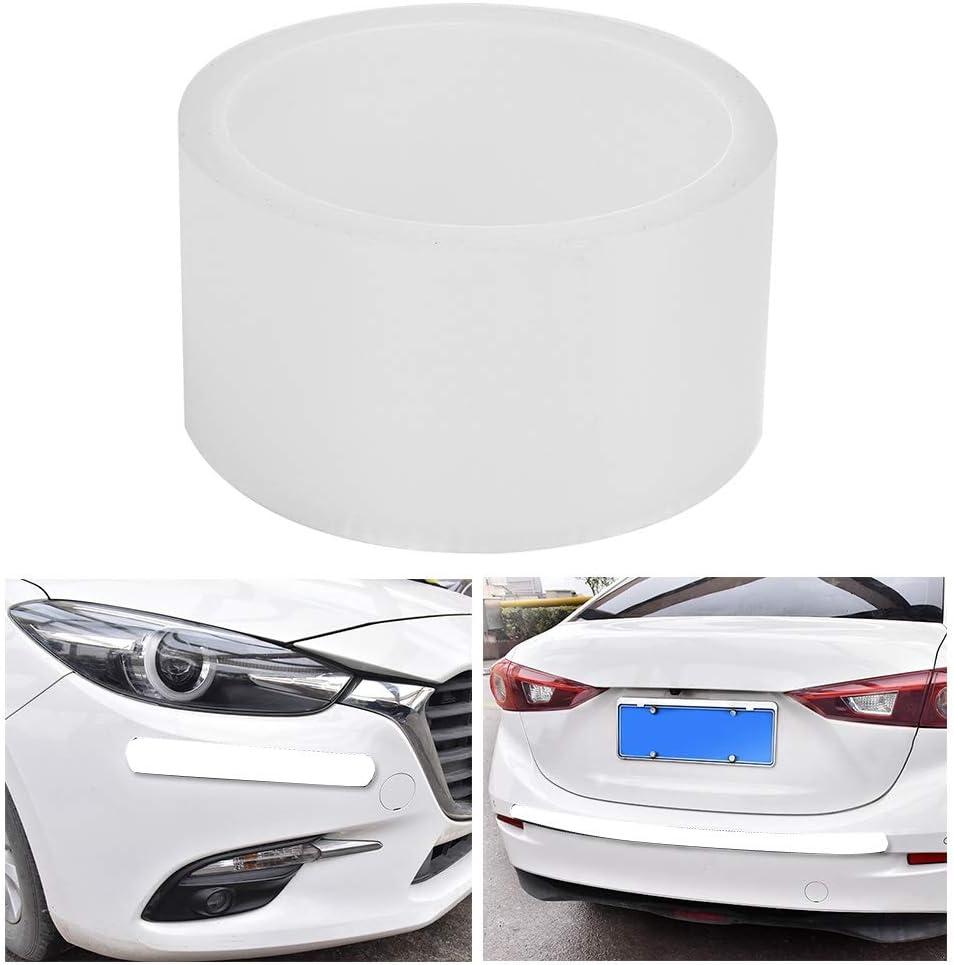 Qii lu Accessorio per protezioni laterali per portiere per auto 3CM*3M Pellicola protettiva bianca antigraffio per auto