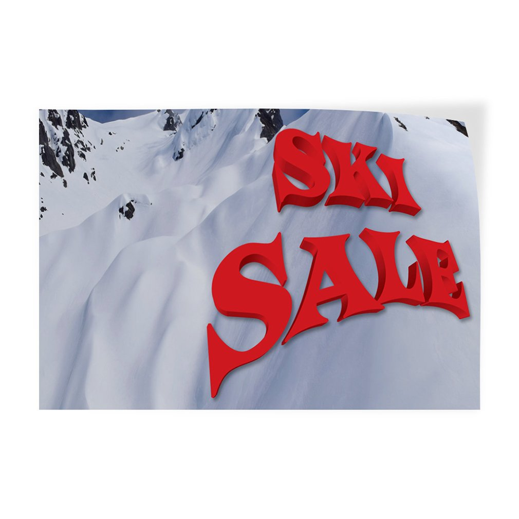 Decal Sticker Multiple Sizes Ski Sale #1 Style B Business Ski Sale Outdoor Store Sign White 69inx46in One Sticker
