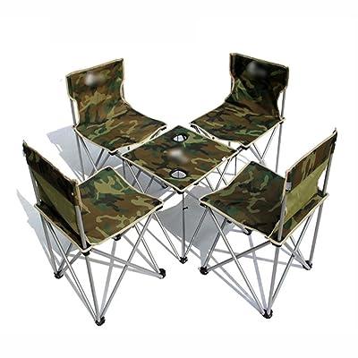 Anna Chaise d'escalade Tables et chaises pliantes extérieures 5 ensembles de tables et chaises pliantes simples Camouflage Color