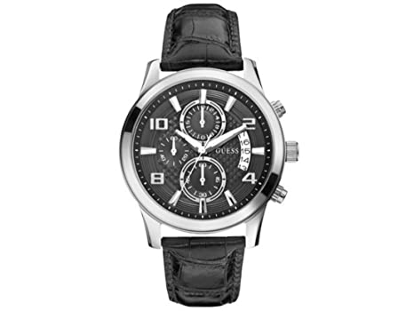 guess men stopwatch watch black dial analog digital guess guess men stopwatch watch black dial analog digital