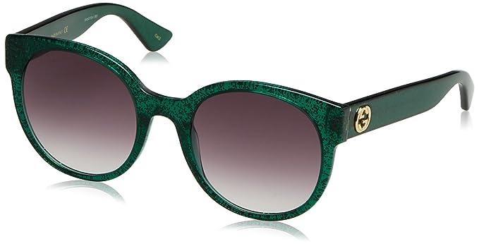 Gucci Damen Sonnenbrille GG0035S 007, Silber (Silver/Brown), 54