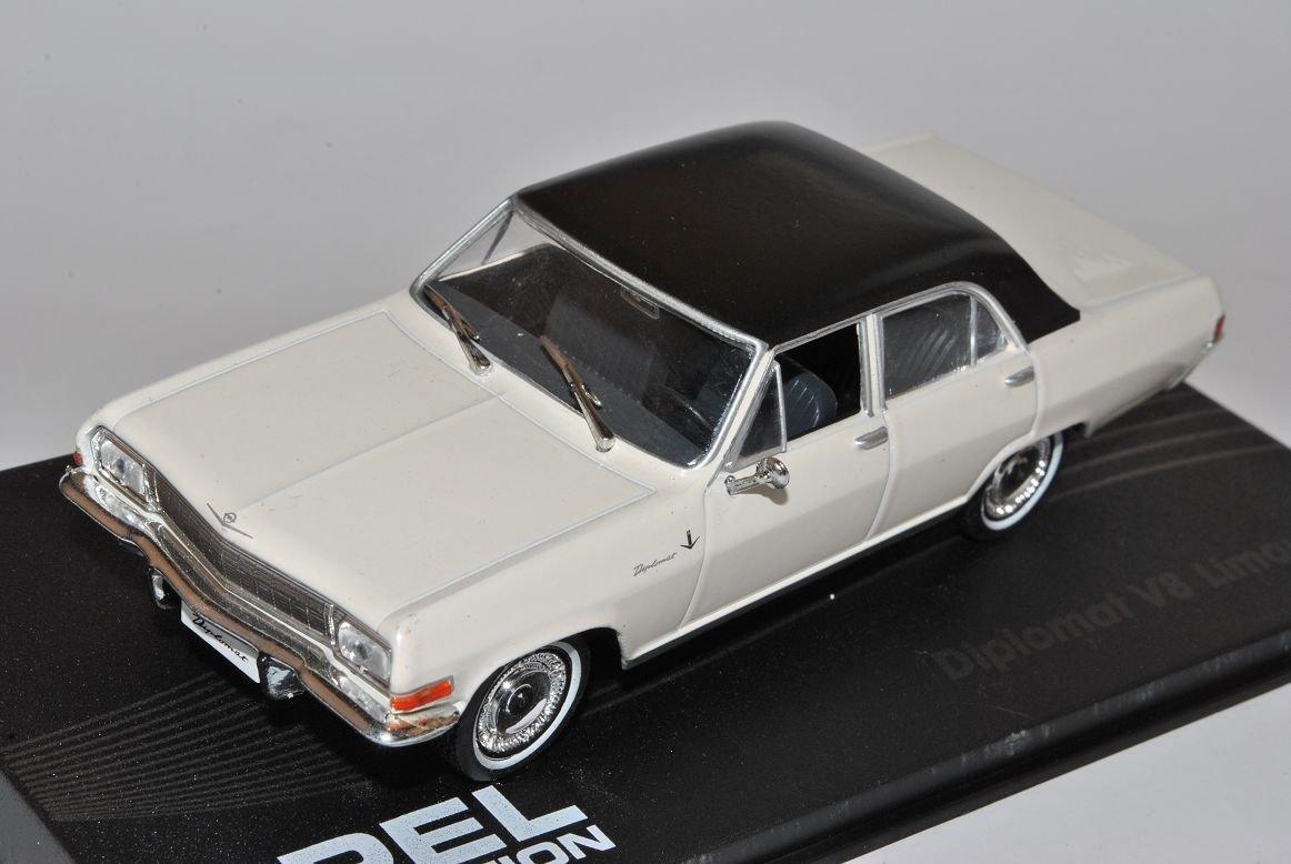 Opel Diplomat V8 Limousine Weiss 1964-1967 1//43 Modellcarsonline Modell Auto mit individiuellem Wunschkennzeichen