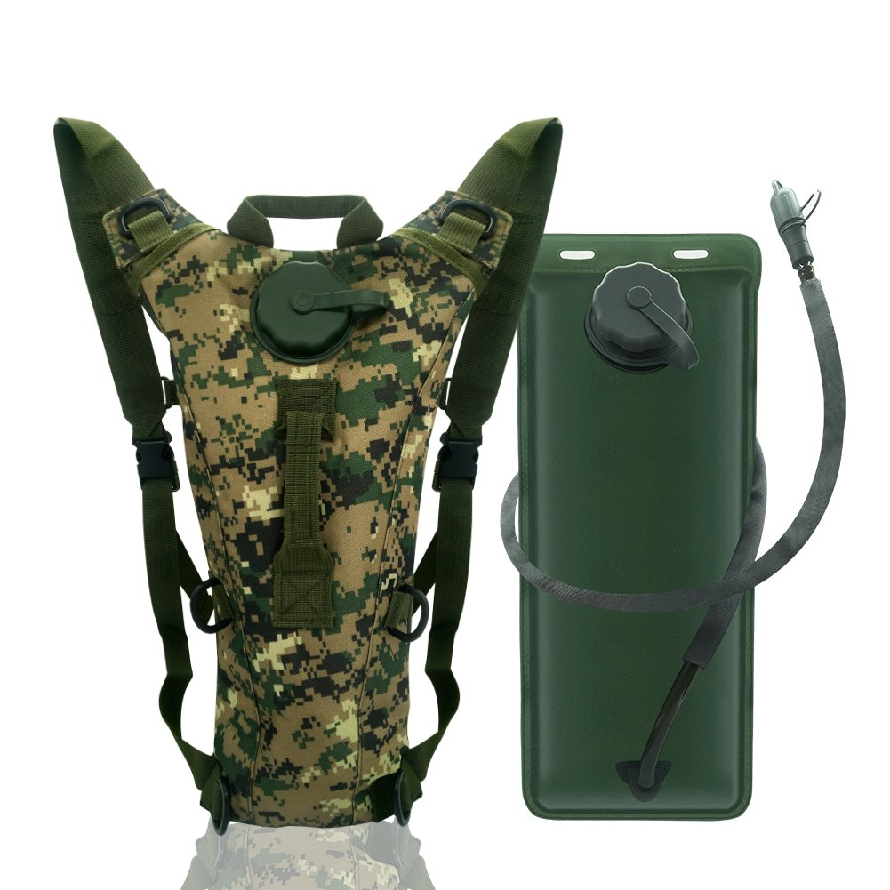econoLED US Army 3L 3 Liter 100 Ounce Hydration Pack Bladder Water Bag Pouch Hiking Climbing Survival Outdoor Backpack