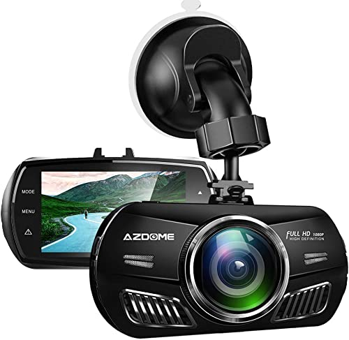 AZDOME M11 Mini Dash Cam 3 inch 2.5D IPS Screen Dash Camera HD1080P Car Camera DVR with Time-Lapse Video,G-Sensor,Loop Recording,Parking Monitor Support 64GB Max