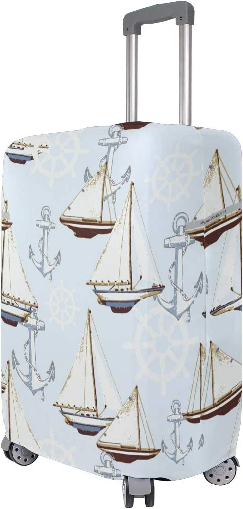 18//22//26//29 Inch Travel Suitcase Luggage Protective Cover with Sailing Ship