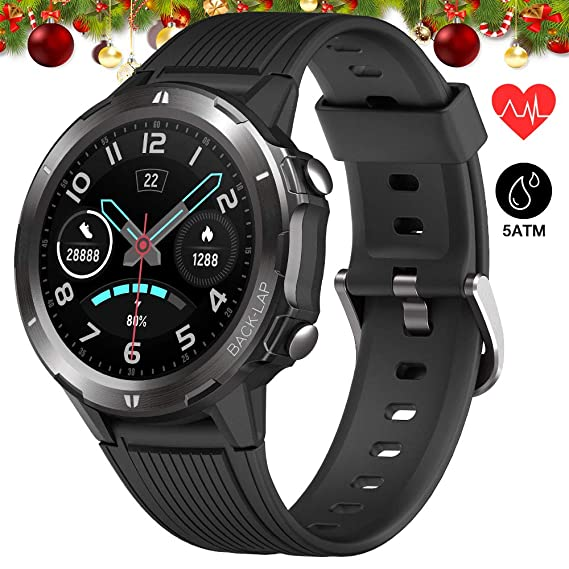 UMIDIGI Smartwatch 5ATM Waterproof Fitness Tracker with All-Day Heart Rate and Activity Tracking, Sleep Monitoring, Ultra-Long Battery Life, Smart ...