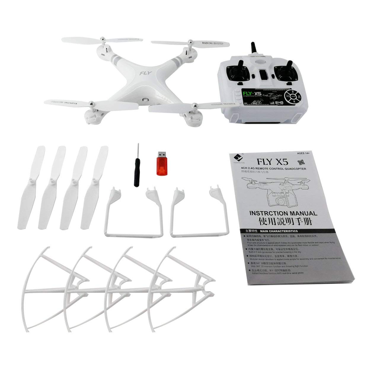 X52 Weitwinkelobjektiv 0.3MP HD Kamera Drohne WiFi FPV Live Quadcopter Smart Höhe Halten Hover RC Hubschrauber 2,4 GHz Drohne