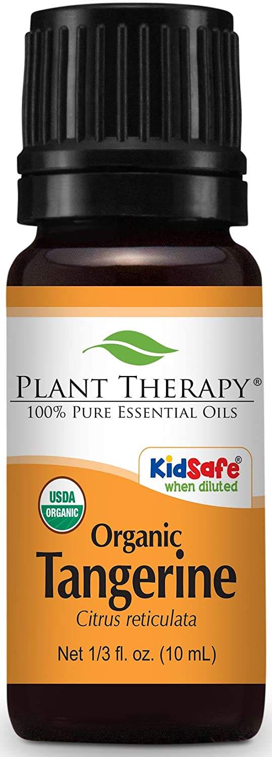 Plant Therapy Tangerine Organic Essential Oil 10 mL (1/3 oz) 100% Pure, Undiluted, Therapeutic Grade