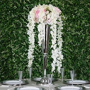 Efavormart 4 Ft Cream Artificial Wisteria Vine Hanging Garland for DIY Wedding Bouquets Centerpieces Arrangements Decorations 55