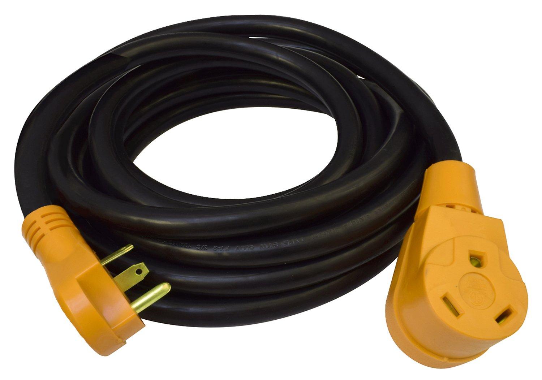 Cynder 00640 RV 30 Amp Heavy Duty Power Extension Cord 50' Foot (50 Feet, Yellow)