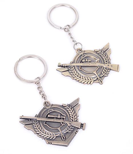 Amazon com: Pack of 2 Cool PUBG Accessories Keychain