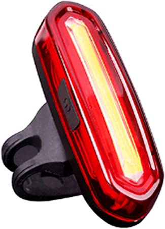 USB Rechargeable COB LED Bicycle Cycling MTB Bike Rear Tail Light Lamp Taillight