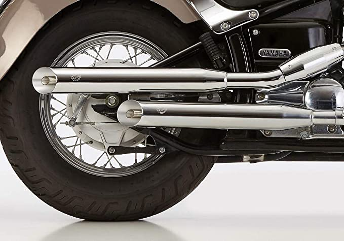 Exhaust System Falcon Cromo Line Slash Cut Yamaha Xvs 650 Drag Star And Classic With Eg Be Auto