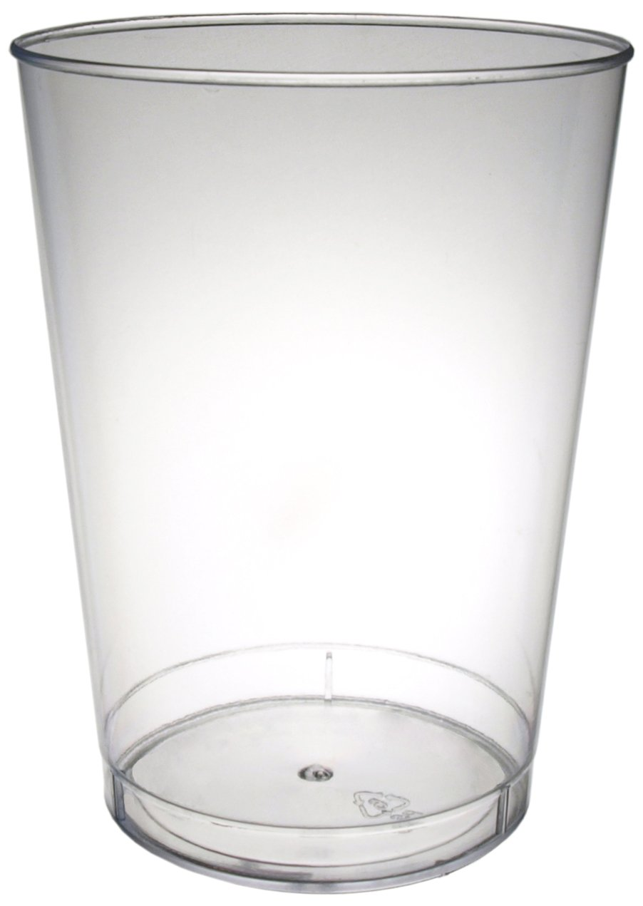Party Essentials N102521 Plastic Party Cups/Tumblers, 10-Ounce Capacity, Clear (Case of 500)