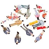 20Pcs dipinte treno modello passeggero people figure in scala 1: 25