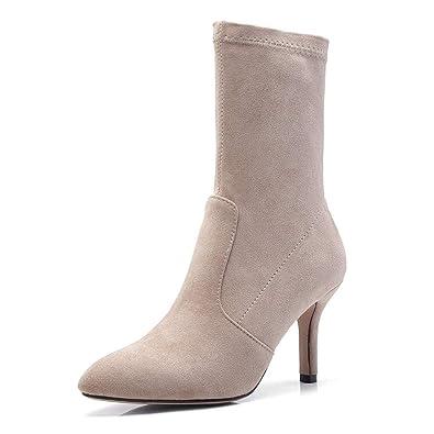 Zapatos Botas 2018 Calcetines Botas de Moda, Tacón Alto, Botines Elásticos, Botas Martin para Mujeres Chicas Adultos: Amazon.es: Zapatos y complementos