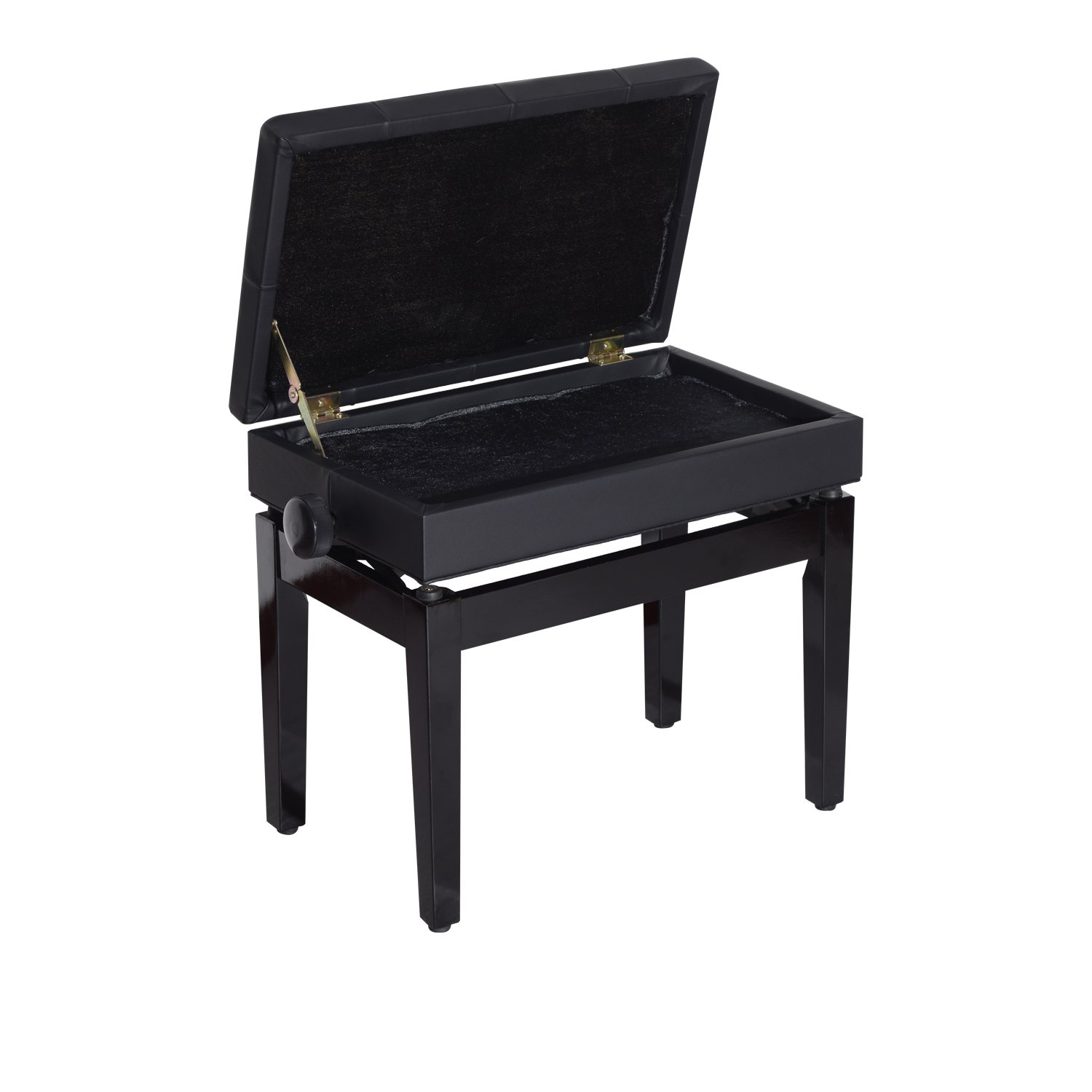 Adjustable piano chair - Amazon Com Homcom 25 Leather Black Adjustable Storage Piano Bench Home Furniture Patio Lawn Garden