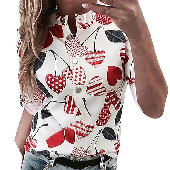 Beikoard Camisas Abotonadas para Mujer Camisa de Lunares Mujer Camisa Manga Larga Chaleco Mujer Vestir Negro: Amazon.es: Ropa y accesorios