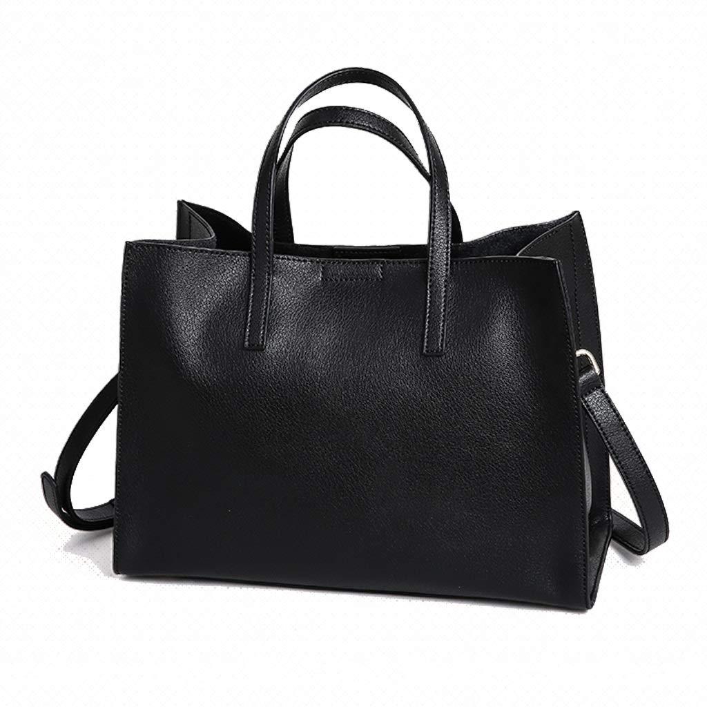 ファッションジョーカーPUワンショルダーバッグメッセンジャーさんバッグ (色 : 黒) B07MVZQVTF 黒